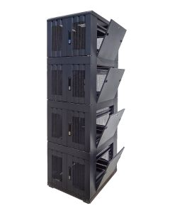 42U 19 inch Serverkast met geperforeerde deuren en met 4x 9U Compartiment
