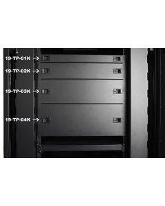19 inch 3U afdekpaneel voor serverkasten zwart KLIK FORM