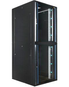 42U 19 inch Serverkast met glazen deur en met 2x 18U Compartimenten