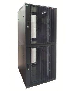 42U 19 inch Serverkast met geperforeerde deuren en met 2x 18U Compartimenten