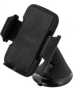 Deltaco houder voor de smartphone in de auto, verstelbare beugel met zuignap, 53-83mm, zwart