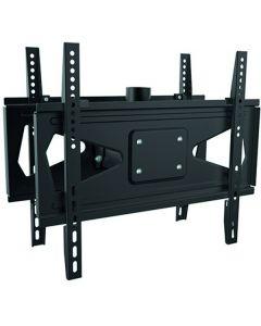 """EPZI de monitor beugel om twee beeldschermen aan het plafond te monteren, 32-55 """", max 50kg, tilt, VESA, 1 ½"""" schroefdraad, aluminium / staal, zwart"""