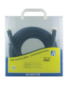 Deltaco, HDMI-kabel, 19-pin mail-mail, 15m