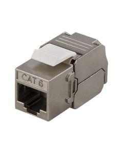 "DELTACO MD-108, FTP Cat6 Keystone Adapter, Afgeschermd, 22-26AWG, ""Tool-vrij"""