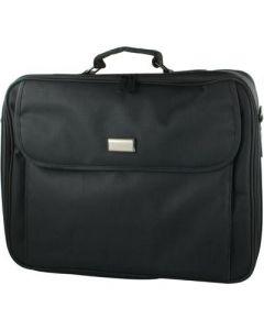 """17"""" inch, laptop tas met handvat en schouder-rim, zwart."""
