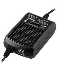 DELTACO, sigaret stopcontact voor de laptop,draagbaar met 15-24V