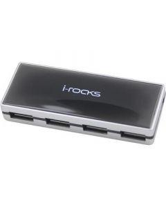 USB 2.0 hub 4-poorten, met netadapter meegeleverd.