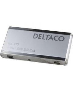 eltaco, USB 2.0 hub, 4 poorten, netadapter meegeleverd.