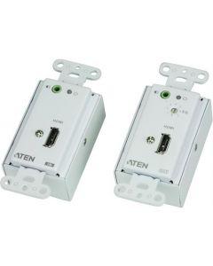 ATEN VE806, HDMI extender over Ethernet voor installatie in de muur, plafond of op de vloer, 1080p tot 40 meter, wit