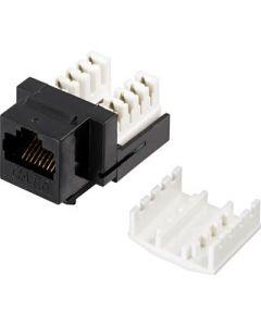 Cat6 UTP Keystone-connector, zwart